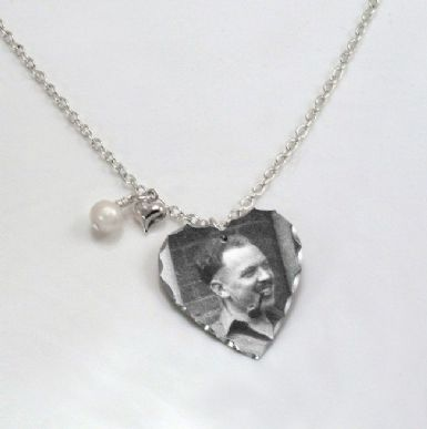 Permanent Photo Heart Necklace | Someone Remembered